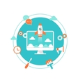 Website Launch Content Development and vector image vector image