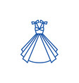 wedding dress line icon concept wedding dress vector image vector image