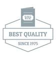 wine menu logo simple gray style vector image vector image