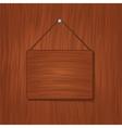 wooden baord vector image