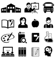 School Learning and Educaiton Icons vector image