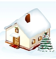 Gingerbread House with tree vector image