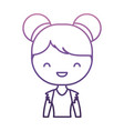 ballerina girl icon vector image