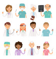 different doctors profession charactsers vector image