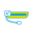 3d glasses technology object to entertainment vector image
