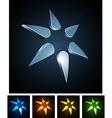 3d star emblems vector image