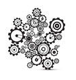 Abstract cogs - gears on white background vector image vector image