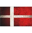 Abstract Mosaic flag of Denmark vector image vector image