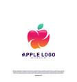 apple logo design concept fruit apple creative vector image vector image