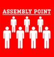 assembly point symbolboard with group icon people vector image vector image