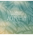 Autumn forest background vector image vector image