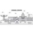 canada regina architecture line skyline vector image vector image