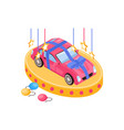 car prize isometric composition vector image
