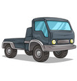 cartoon delivery onboard cargo truck icon vector image