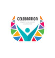 celebration festival - concept business logo vector image vector image