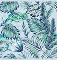 chameleon blue jungle light background vector image