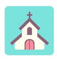 chapel flat icon vector image vector image