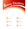 christmas banner and design elements in red vector image vector image