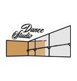 Color vintage dance studio emblem vector image vector image