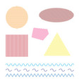 colored simple geometric shapes on white vector image vector image