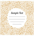 confetti golden and tiny with sample text falling vector image