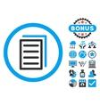 Copy Document Flat Icon with Bonus vector image