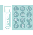 coronavirus covid 19 diagnostics research medical vector image