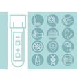 coronavirus covid19 19 diagnostics research medica vector image vector image