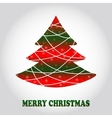 Creative Christmas tree card vector image vector image