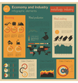 Economy and industry Metallurgy industry vector image vector image