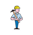 Engineer Architect T-Square Cartoon vector image vector image