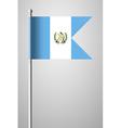 Flag of Guatemala National Flag on Flagpole vector image vector image