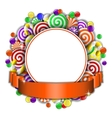 Frame with colorful candies vector image vector image