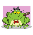 Frog Mobster With A Hat And Cigar vector image vector image