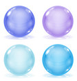 glass balls set of blue 3d shiny sheres isolated vector image vector image