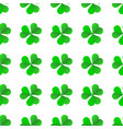 green irish clover for st patricks day seamless vector image vector image