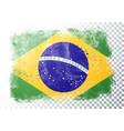 grunge flag brazil vector image