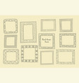 hand drawn frames set cartoon greek style vector image