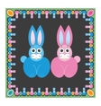 Hare rabbit easter vector image