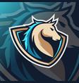 horse mascot logo esport vector image vector image