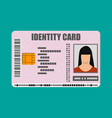 id card icon identity card national id card vector image vector image