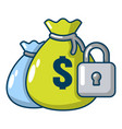 insurance money icon cartoon style vector image