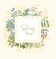 it is spring card vector image vector image