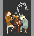 jazz music players musicians trumpet and piano vector image