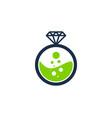lab diamond logo icon design vector image