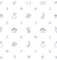 leaf icons pattern seamless white background vector image vector image