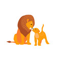 lion and son family happy vector image vector image