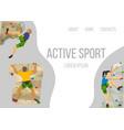 mountain climbing sport web template vector image