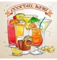 New Era Drinks Cocktail menu vector image