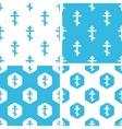Orthodox cross patterns set vector image vector image